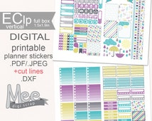 Printable April planner stickers,Umbrella stickers,EClp weekly sticker kit,Erin Condren April Stickers,April shower sticker,Rain,spring