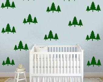 Tree Decal, Pine Tree Wall Decal, Woodland Wall Decal, Rustic Decal, Forest Decal, Woodland Tree, Pine Tree Decal, Rustic Tree Decal, Woods
