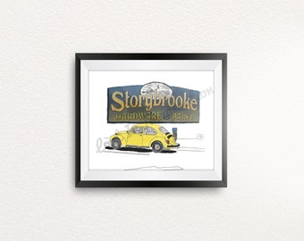 Storybrooke (ABC Once Upon a Time) Art Print