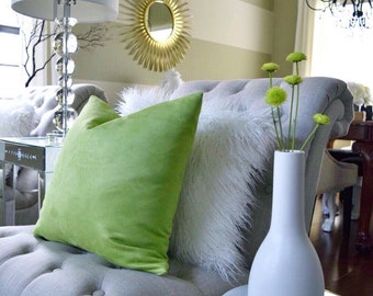 Pillow cover, Green  ( insert  not included )