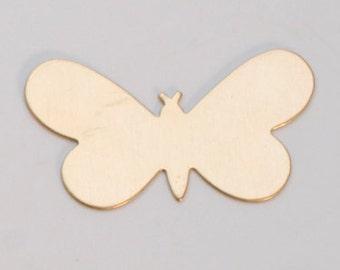 Brass Butterfly, 24 Gauge, 1-5/16 by 3/4 Inch, Pack of 144 | MET-450.12G