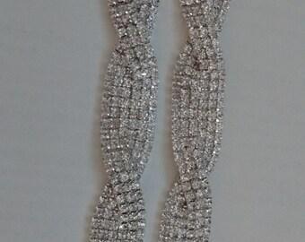2 Super Sparkly Rhinestone Bikini Connectors... UK.