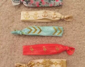 10 Elastic Hair Ties grab bag