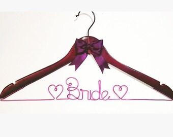 Wedding Bridal Hanger, Personalized Hanger, Bridal Party Hanger Gifts, Custom Hanger, Name Hanger, Wire Name Hanger, Unique Bridal Gift