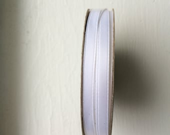 """New White Satin Ribbon 1/4"""" (6 mm) wide x 10 yards (9.24 m) long by Offray"""