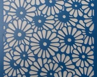 Flower Background Stencil