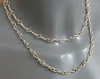 Chain silver 800 chain shabby vintage SK794