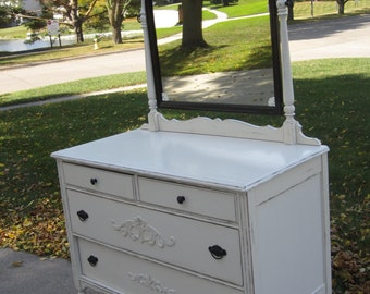 SOLD   ***  Beautiful Antique Four Drawer Dresser  ***    SOLD