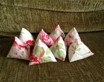 Set of 8 pattern weights , Cath Kidston/Ikea Rosali Fabric