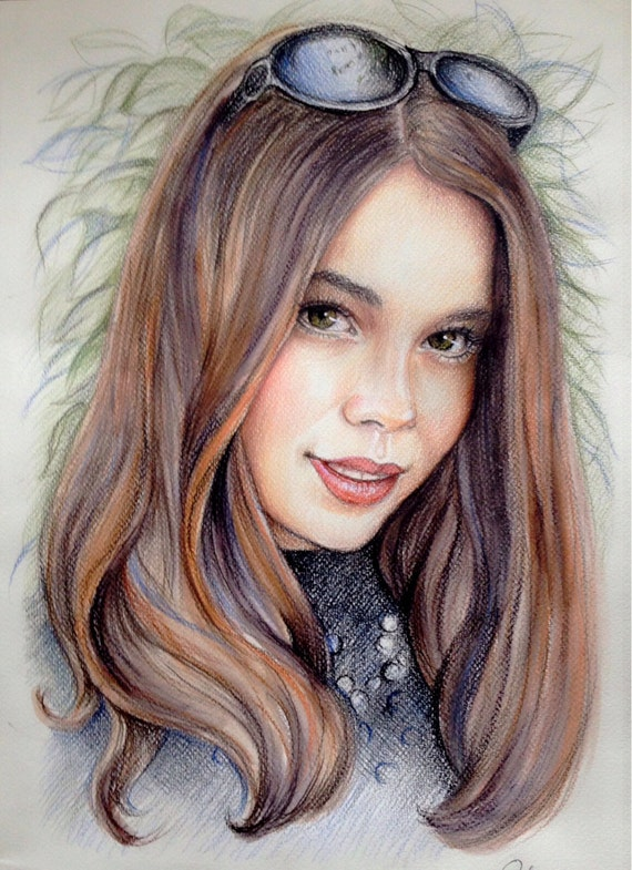 12x16 Custom portraits pencil Portrait drawing art