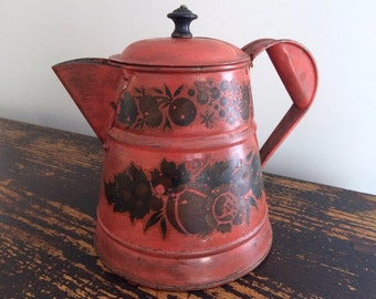 Vintage Toleware Coffee Pot