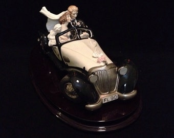 FREE SHIPPING-Fabulous-Made In Italy-Giuseppe Armani-827-C-Wedding On Wheels-Limited Edition-725/5000-Sculpture
