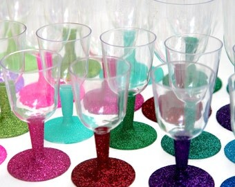 5 oz mini sparkle wine glasses