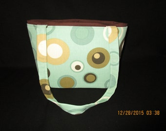 Green and brown retro purse