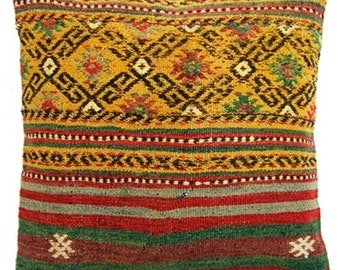Old Turkish Kilim Cushion (13221)
