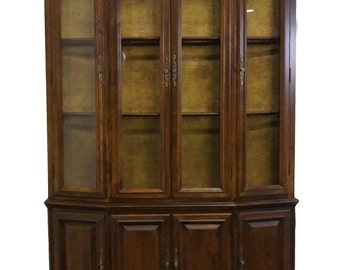 """ETHAN ALLEN Classic Manor 52"""" Buffet w/ Lighted China Cabinet"""