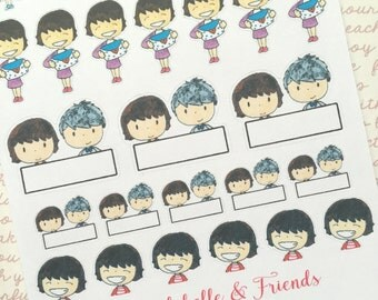 Happy Times - Original watercolour doodle stickers