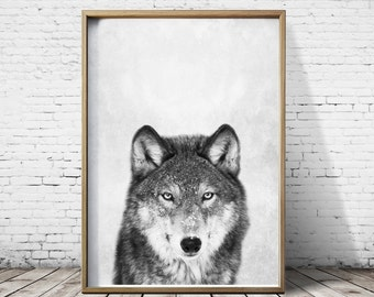 Wolf Print - Wolf Art - Wolf Poster - Animal Prints