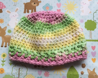 Baby hat, boy hat, girl hat, 0 to 3 months hat
