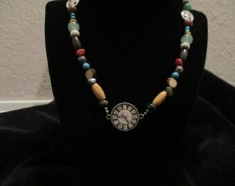Avant Garde Clock Face Necklace