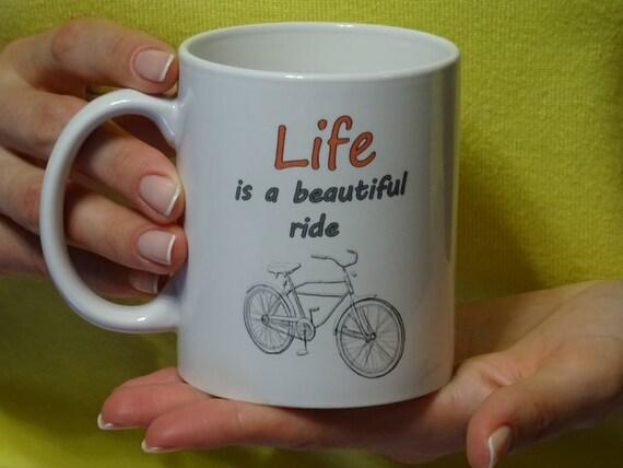 Life Is A Beautiful Ride Bike Mug For Cyclists By Natmugs