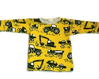sale!, yellow boy shirt, hipster baby clothes, 3-6 months, baby boy clothes, organic boy shirt, boy car shirt, baby boy shirt, boy shirt