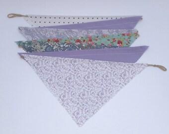 Bunting (Rustic Handmade) - Lilac