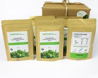 Ceremonial Grade Organic Matcha - 150g - 5 Packs - Matcha Live Longer