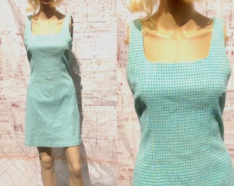 SWEET TEXTURED GREEN,Turquoise ,Short,Mini,Fitted,Casual,Sleeveless Dress