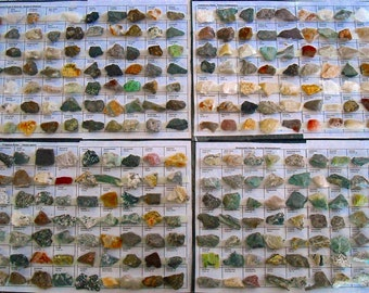 Rock Collection 1000 Minerals, Stones, Gems - 14 sheets