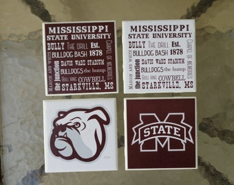 Mississippi State Bulldogs Coasters