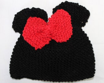 Minnie Mouse Newborn Baby Hat