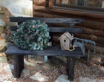 Rustic Wood Bench / Wood Furniture / Entryway Furniture