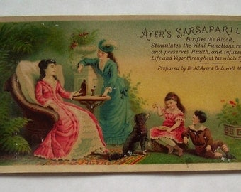 Victorian Trade Card for Ayer's Sarsaprilla - a Cure All from the 1900s