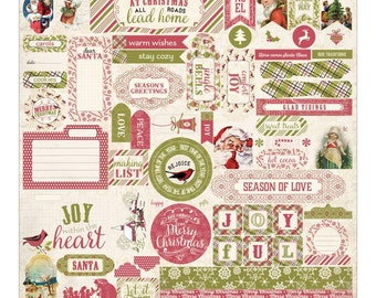 Authentique Christmastime 12x12 Stickers