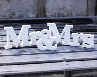 SALE! Weddings Signs, Ampersand Sign and Wedding Mr And Mrs, Stable Wooden Words, Mr Mrs Signs, Wedding Signs, Wooden Mr Mrs Set, Glitter