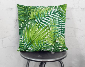 Unique Palm Leaf Pillow Related Items Etsy