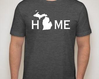 Michigan home t-shirt, Michigan shirt