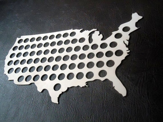 Beer Bottle Cap US Map - I like this because he can do something with all those bottle caps he keeps saving...