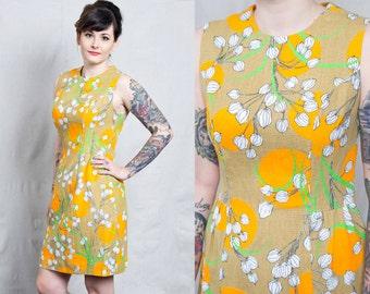 Vintage 60s Floral Dress / Vintage Shift Dress / 60s Floral Print Dress / Floral Print Dress / Printed Shift Dress / 60s Vintage Dress