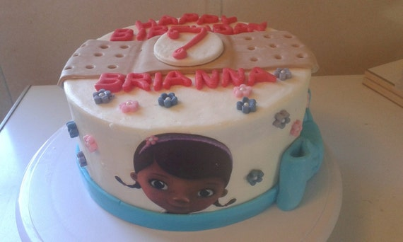 Doc Mcstuffins Cake Decorating Kit : Edible fondant Doc McStuffins inspired cake decorating kit