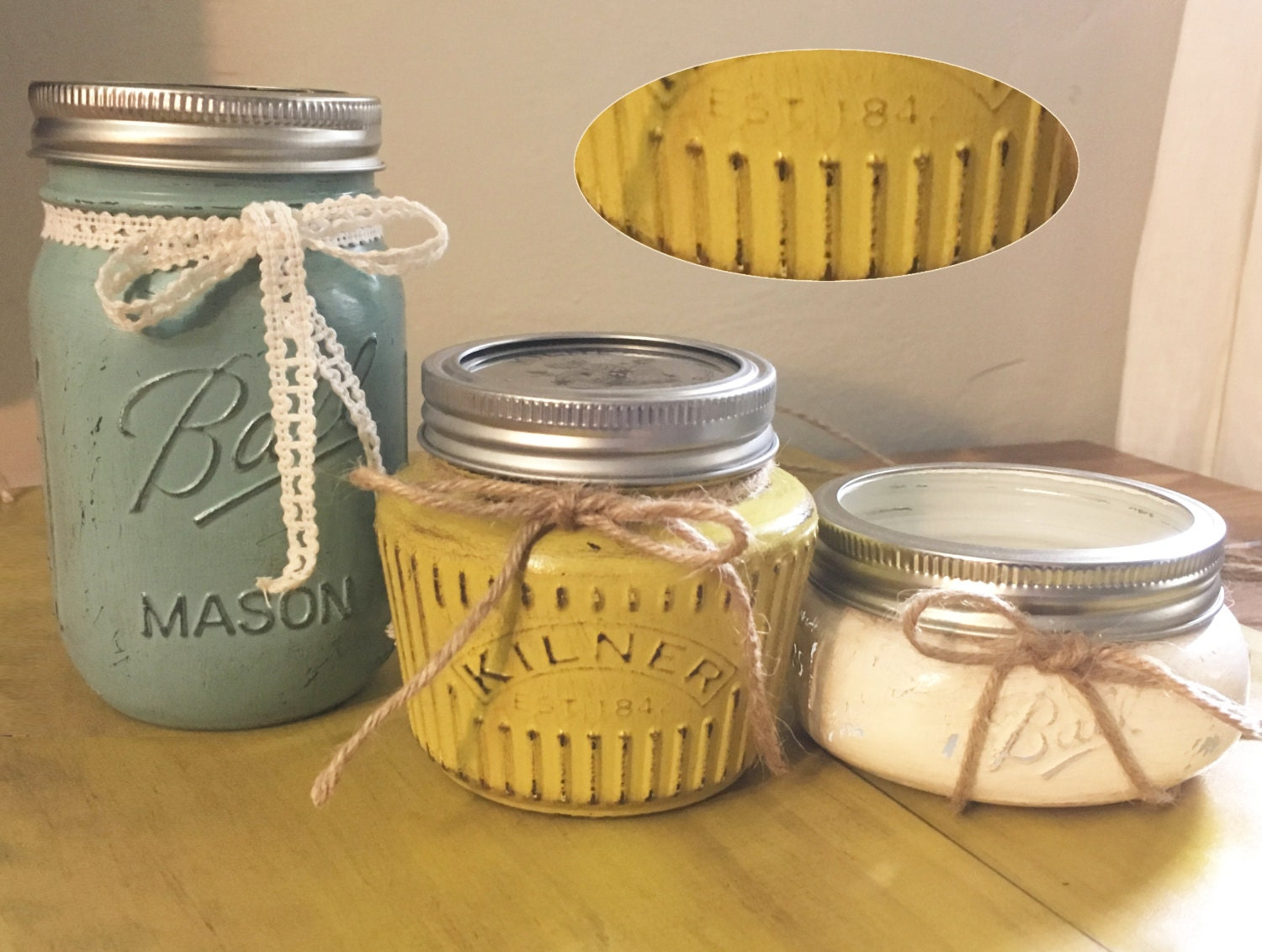 Mason Jar Bathroom Accessories 6 Piece Mason Jar Decor Bathroom Organization Mason Jar
