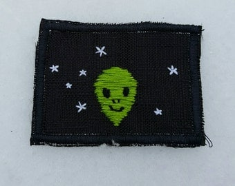 Space Alien sew-on patch