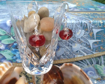 Red Rose Lampglass earrings