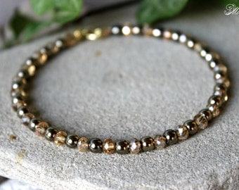 Pyrite Bracelet, Pyrite Bangle Bracelet, Pyrite Bangle, Indian Bangle, Crystal Bangle, Gemstone Bangle, Genuine Pyrite Bracelet, 4mm Pyrite