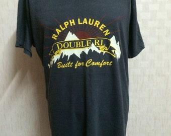 Vintage Double RL Ralph Lauren Tshirt Extra Large Size