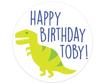 First Birthday Party Decorations | Dinosaur Birthday Party Stickers | Dinosaur Birthday Party Decor | Printed Party Stickers | Australia