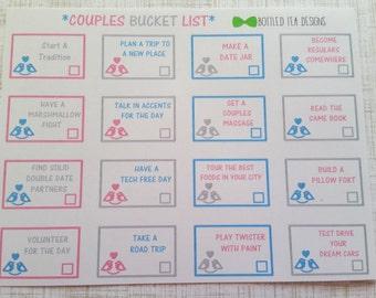 Couples Bucket List (Set of 16) Item #251