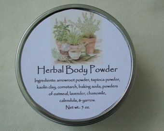Herbal Body Powder, Herbal Powder, Herb Powder, Powder, Talc Free Powder, Bath Accessories, Herbs, Bath & Body, Lavender, Chamomile