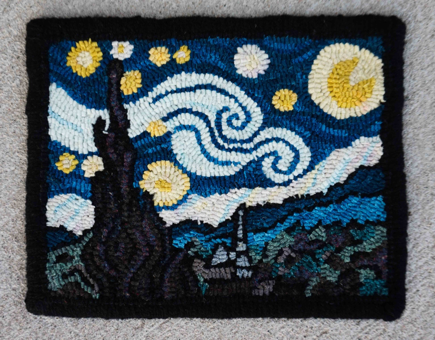 Rug Hooking Pattern Van Gogh S Starry Night Linen